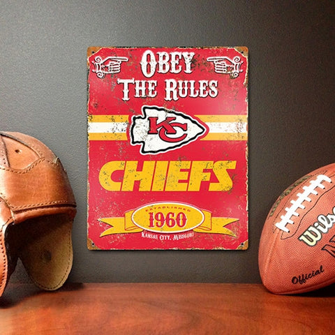 The Party Animal, Inc. VSKC Kansas City Chiefs Embossed Metal Sign - Peazz Toys