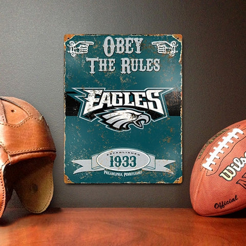 The Party Animal, Inc. VSPH Philadelphia Eagles Embossed Metal Sign - Peazz Toys
