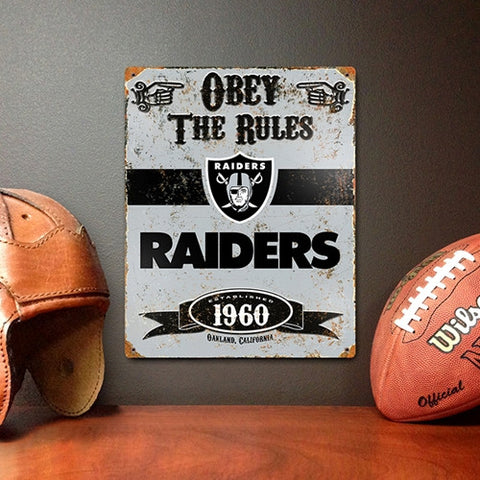 The Party Animal, Inc. VSRA Oakland Raiders Embossed Metal Sign - Peazz Toys