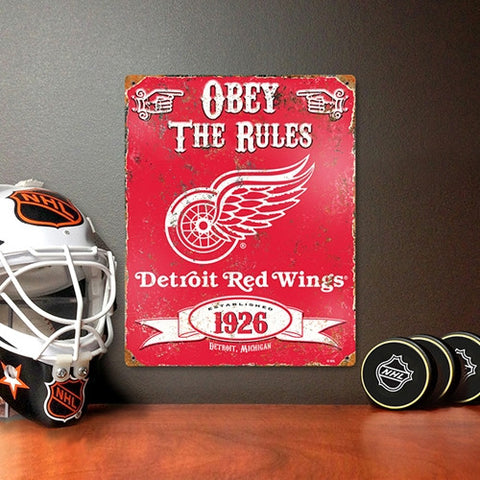 The Party Animal, Inc. VSRED Detroit Red Wings Embossed Metal Sign - Peazz Toys