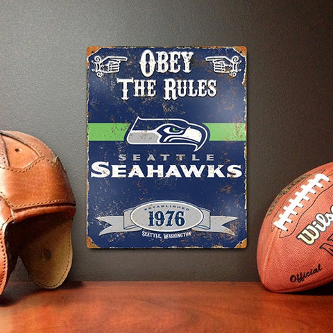 The Party Animal, Inc. VSSE Seattle Seahawks Embossed Metal Sign - Peazz Toys