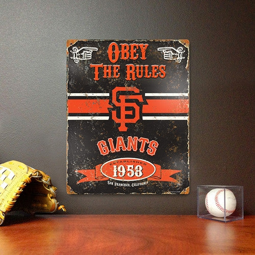 The Party Animal, Inc. VSSFG San Francisco Giants Embossed Metal Sign