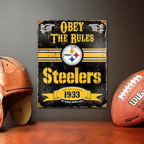 The Party Animal, Inc. VSST Pittsburgh Steelers Embossed Metal Sign