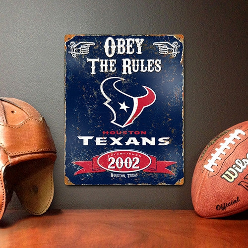 The Party Animal, Inc. VSTX Houston Texans Embossed Metal Sign