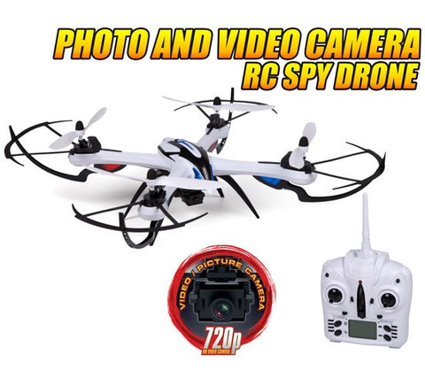 Prowler Spy Drone Video Camera and Photo RC Quadcopter