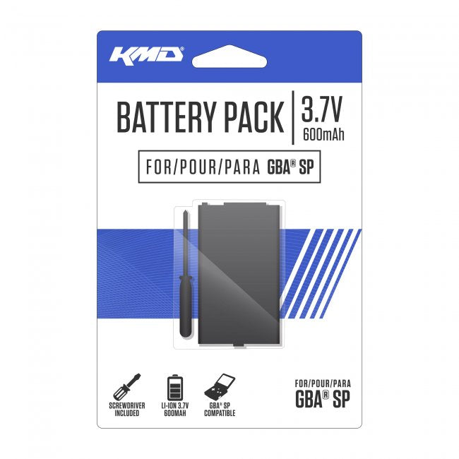 GBA SP Rechargeable Battery With Screwdriver (KMD-GBA-6943)