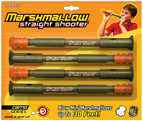 Marshmallow Fun Camo 4pk Straight Shooter 1128 Shooter