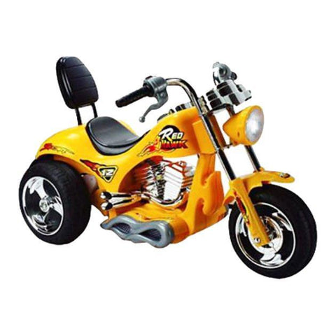 Red Hawk Motorcycle 12v Yellow MM-GB5008_Yellow - Peazz.com
