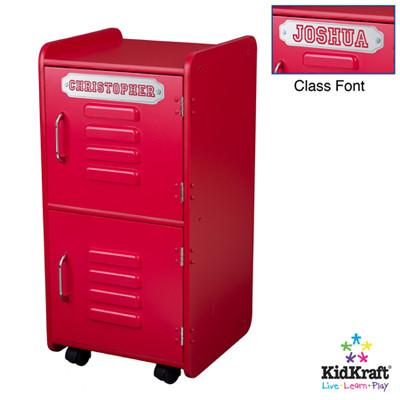 KidKraft Medium Locker - Red 14322 - Peazz.com