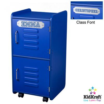 KidKraft Medium Locker - Blue 14323 - Peazz.com