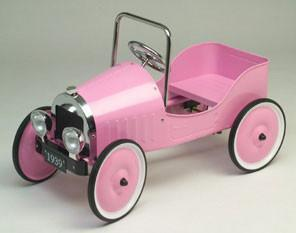 Jalopy Sedan Pedal Car - Pink J39P - Peazz.com