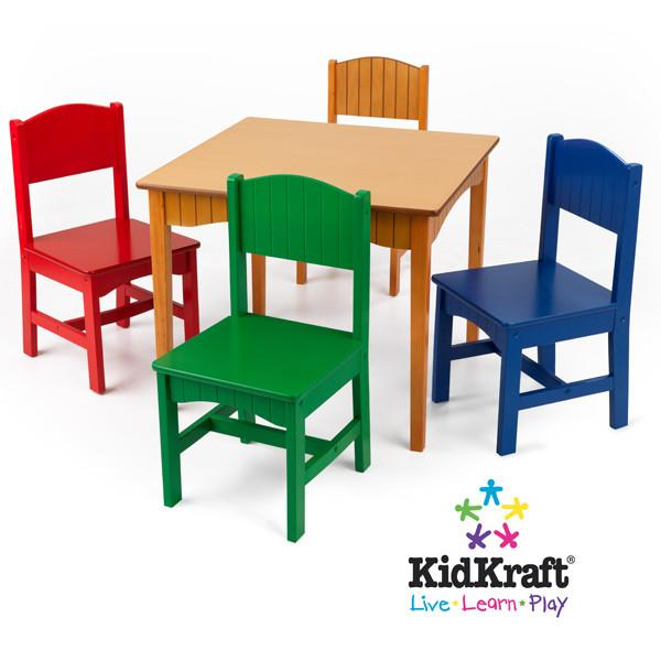 KidKraft Nantucket Honey Square Table & 4 Chair Set - Default