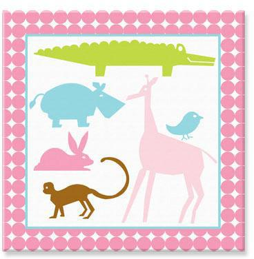 "KidKraft 325 Animal Girls Canvas 10""x24""(no name) - Peazz.com"