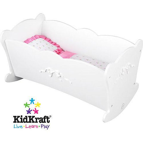 KidKraft 60111 Tiffany Bow Lil' Doll Cradle - Peazz.com