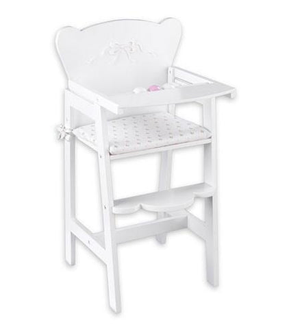 KidKraft 61111 Tiffany Bow Lil' Doll High Chair - Peazz.com