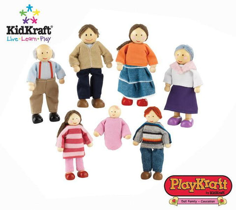 Kidkraft 65202 - 4 in. Doll Family of 7 Caucasian - Peazz.com