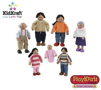 KidKraft Doll Family of 7 - African American 65234 - Peazz.com