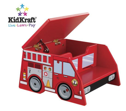 Kidkraft 76023 - 12 in. Fire Truck Step Stool - Peazz.com