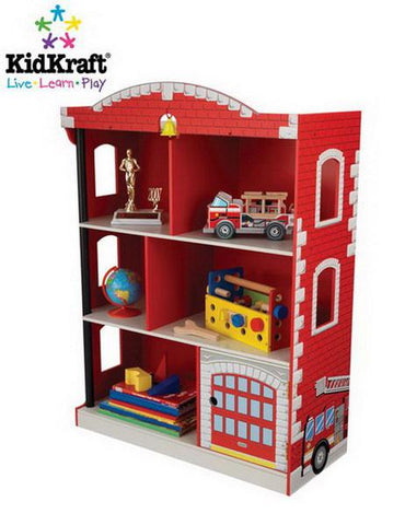 Kidkraft 76026 - 28 in. Firehouse Bookcase - Peazz.com