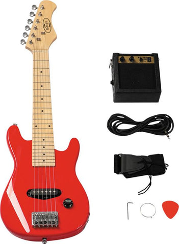 "Berry Toys MKAGT30-ST3-RD 30"" Electric Guitar Set with 5W Amplifier, Cable, Strap, Picks - Red - Peazz.com"