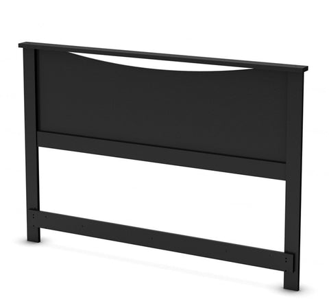 South Shore 3107270 Step One Collection Full/Queen Headboard (54/60'') Pure Black - Peazz.com