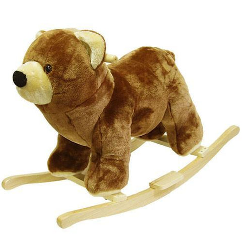 Bear Plush Rocking Animal - Peazz.com