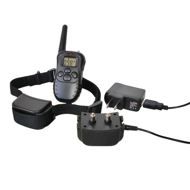 300 Yard Petrainer Rechargeable Waterproof Remote Training Collar MK998DR 1D