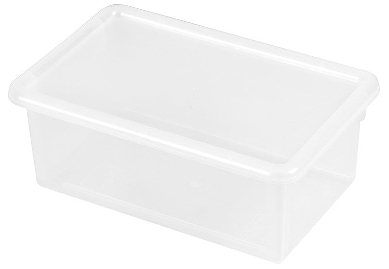 ECR4Kids ELR-0102-CL Stack & Store Tub with Lid - Clear - Set of 12