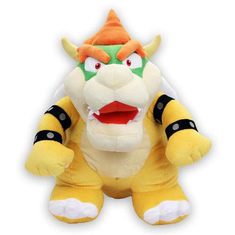 "Nintendo Official Super Mario - Plush - Bowser -16"" (nintendo-l) - 819996012443 - Peazz Toys"