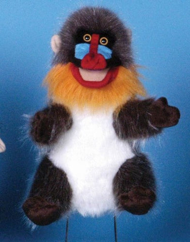 "12"" Mandrill Monkey Puppet - Peazz Toys"