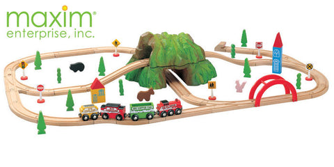 Maxim Enterprise 59 Piece Mountain Train Set (37237-MB) - Peazz Toys