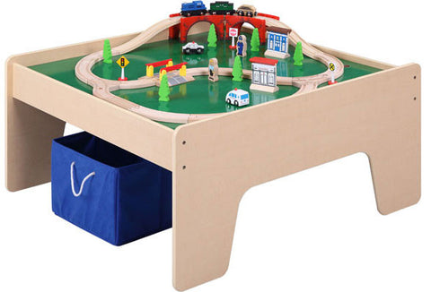 Maxim Enterprise Train Table with 45 piece Train Set (38080-WS) - Peazz Toys