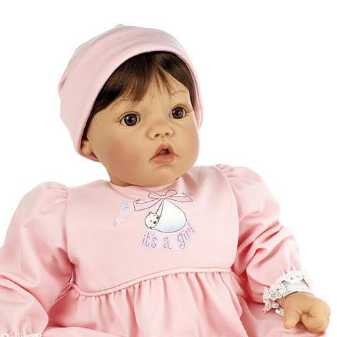 Middleton Doll 92564 Baby Face Girl Brown/Brown - Peazz Toys
