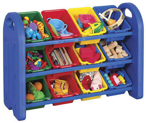 ECR4Kids ELR-0216 3-Tier Storage Organizer with Bins - Peazz Toys