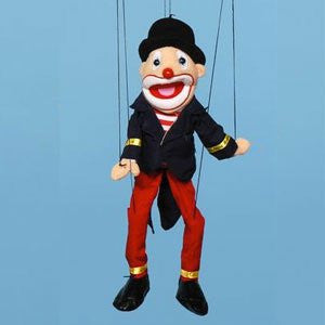 "Sunny & Co Toys WB1903 Sunny Toy Puppet 22"" Clown with hat - Peazz Toys"