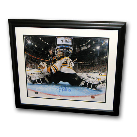 Tuukka Rask autographed 16X20 Unframed Photograph - From Behind - Peazz Toys