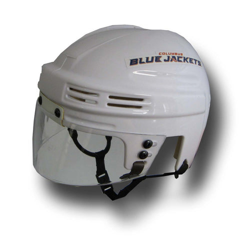 Official NHL Licensed Mini Player Helmets - Columbus Blue Jackets (White) - Peazz Toys
