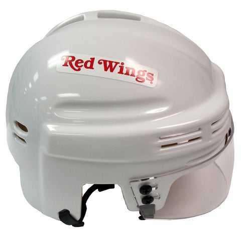 Official NHL Licensed Mini Player Helmets - Detroit Redwings (White) - Peazz Toys