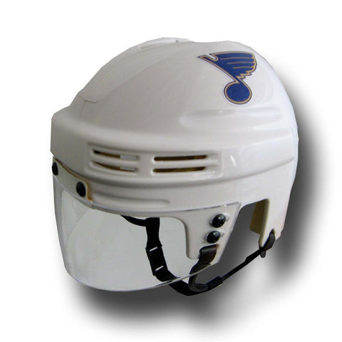 Official NHL Licensed Mini Player Helmets - St Louis Blues (White) - Peazz Toys