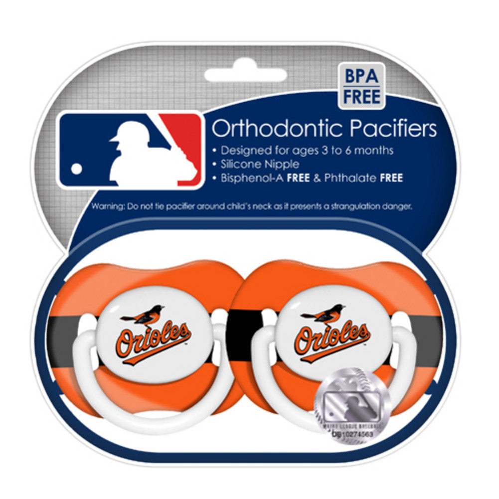 2 Pack Pacifiers Baltimore Orioles
