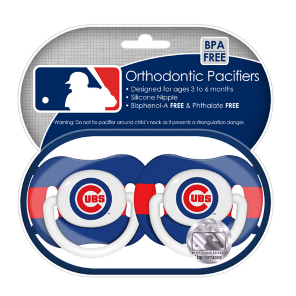 2 Pack Pacifiers Chicago Cubs