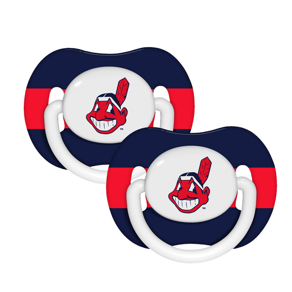 2 Pack Pacifiers Cleveland Indians