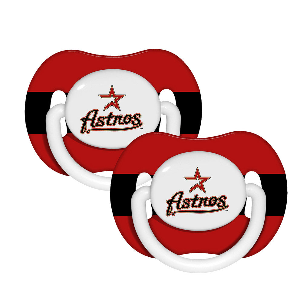 2 Pack Pacifiers Houston Astros