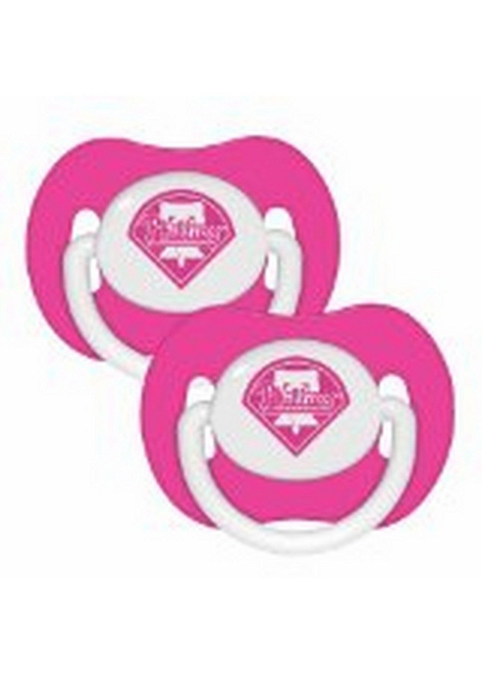 2 Pack Pink Pacifiers Philadelphia Phillies