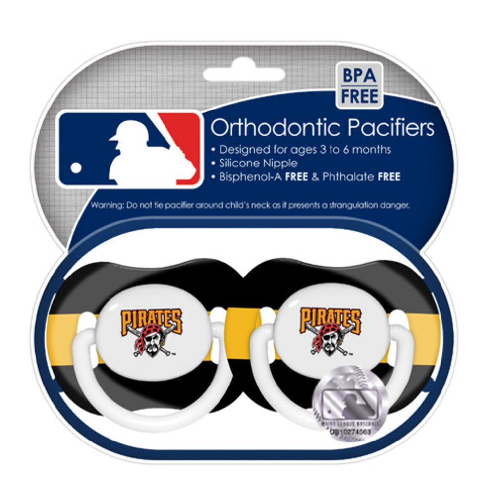 2 Pack Pacifiers Pittsburgh Pirates