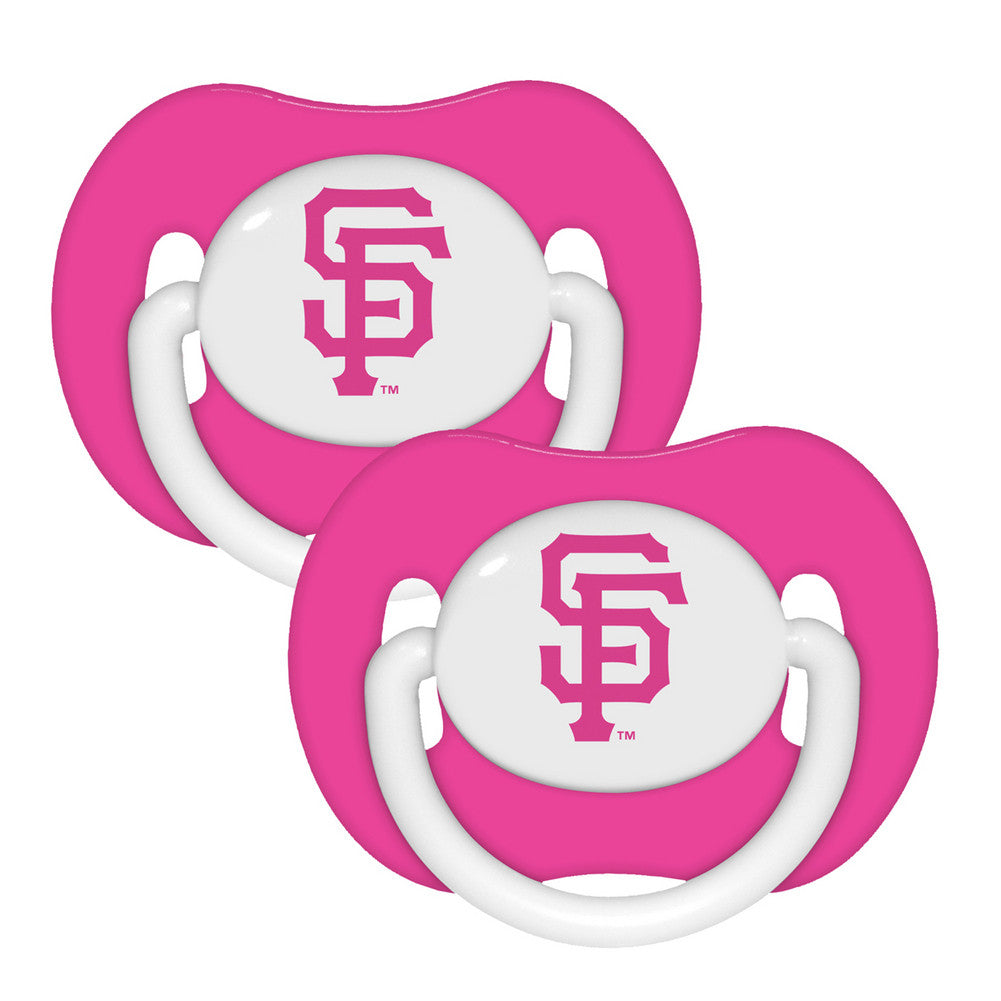 2 Pack Pink Pacifiers San Francisco Giants
