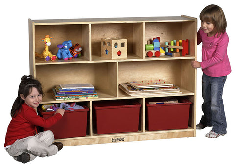 "ECR4Kids ELR-0421 36"" Birch Storage Cabinet - 8 Compartments - Peazz Toys"