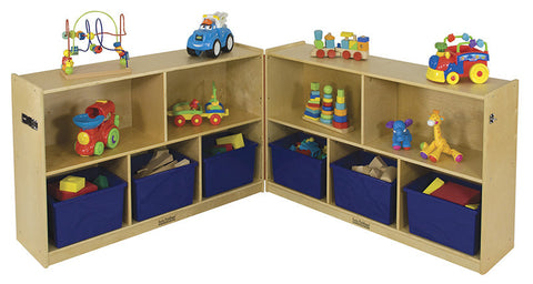 "ECR4Kids ELR-0423 5 Compartment Fold & Lock Cabinet 30""H - Peazz Toys"