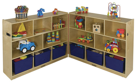 "ECR4Kids ELR-0424 36"" Fold and Lock Cabinet - 8 Compartment - Peazz Toys"