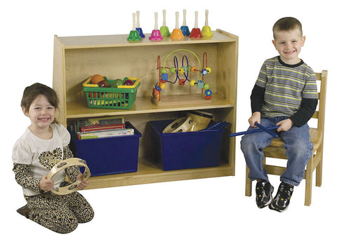 ECR4Kids ELR-0429 Birch Book Display with Storage - Peazz Toys